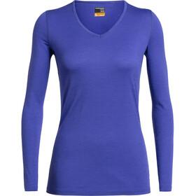 Icebreaker 200 Oasis LS V-Ausschnitt Shirt Damen mystic